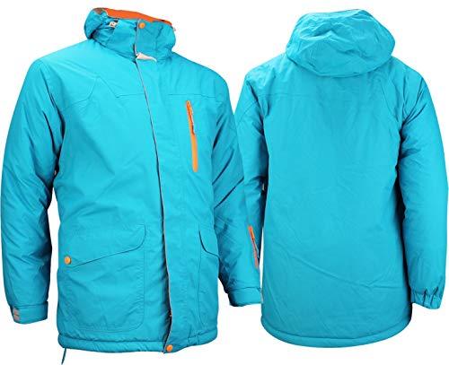 Starling Herren Ski und Snowboardjacke, Aqua Grau Orange, XL