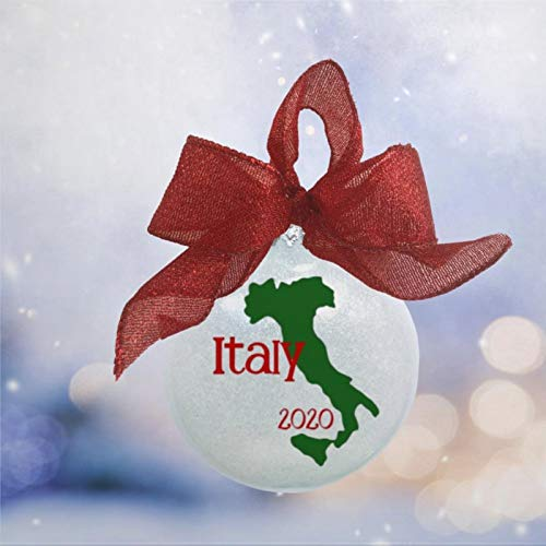 BYRON HOYLE Italian Vacation Christmas Ornament Italy Christmas Ornament Italy Vacation Ornament Italy Keepsake Ornament Honeymoon Ornament Italy Present Tree Ball Ornaments Shatterproof Xmas Decor