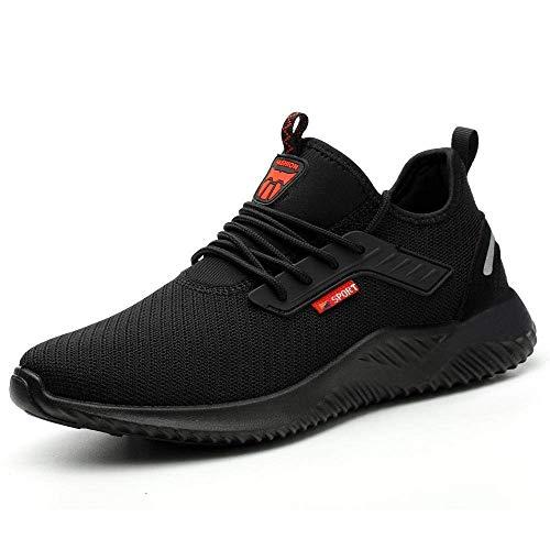 HMFSXKR Zapatos de seguridad para hombre y mujer, zapatos de trabajo, zapatos...
