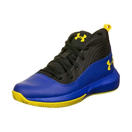 Under Armour UA GS Lockdown 4, Zapatos de Baloncesto Unisex Adulto, Azul (Royal), 40 EU