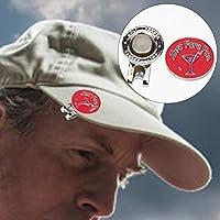 ゴルフマグネティックハットクリップ、ゴルフトレーニング用の強力なマグネティックデザインメタル素材ゴルフハットクリップ