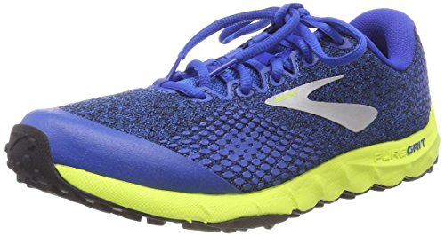 Brooks PureGrit 7, Zapatillas de Running para Hombre, Multicolor (Blue/Lime/Black 492), 45.5 EU