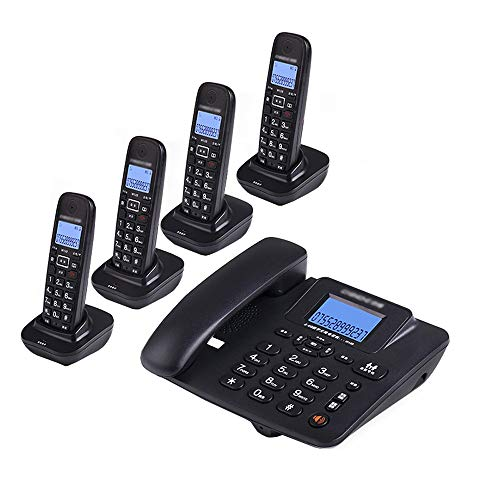 Uioy Teléfono, teléfono inalámbrico Digital, teléfono Fijo inalámbrico Inteligente Fijo (Color : Black, Style : 4)