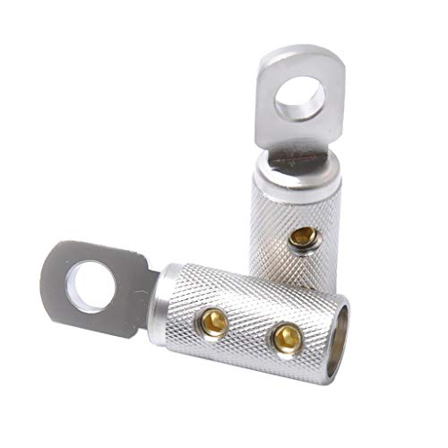 CROSYO 2PCS Bullet Terminal Conector Conector de Alambre 4ga AWG Gauge Joiner Barrel Barril Tiempos de Alambre Profundo para Extender Conectores de Alambre eléctrico