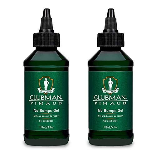Clubman Pinaud Shave Gel No Bumps After Shave for Men Sensitive Skin 4 oz 2 pack