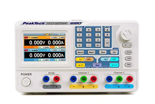 DC Linear Doppel-Labornetzgerät ~ 0-30V / 0-3A ~ mit TFT, USB & RS-232