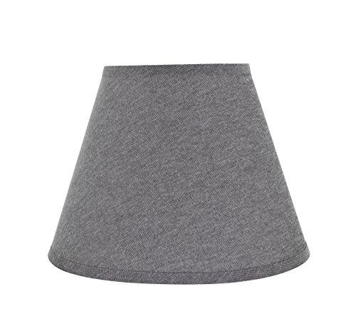 Aspen Creative 32625 - Pantalla de lámpara de techo con diseño de araña en color gris, 30 cm de ancho, 15,24 cm x 30,48 cm x 22,86 cm