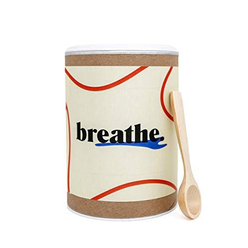 Nasenspülsalz breathe. (lose, ca.120 Anwendungen) für die Nasendusche · 300g · inkl. Holz-Messlöffel · Nasensalz zur Nasenspülung und Nasenreinigung · frei durchatmen · für Kinder geeignet