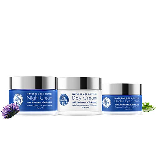 The Moms Co. Complete Natural Age Control Routine l Reduce Fine Lines/Wrinkles l Anti Ageing l Natural Retinol Bakuchiol