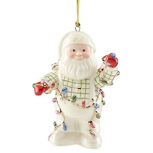 Lenox 2016 Santa Figurine Ornament Annual Christmas Lights