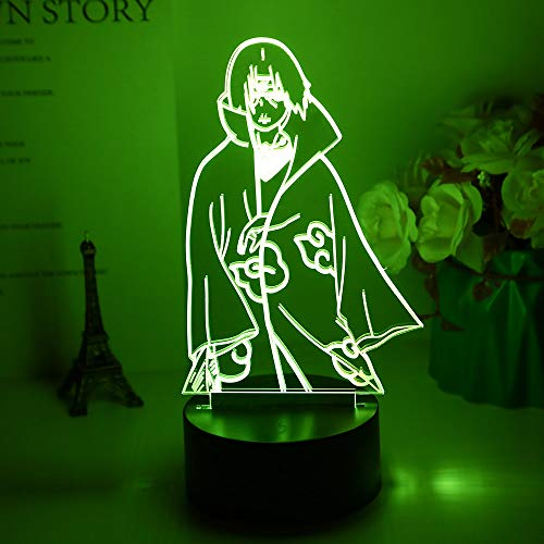 3d Night Light Itachi Uchiha Figure Led Colorful Nightlight for Home Decoration Cool Birthday Gift for Kids Night Lamp Naruto