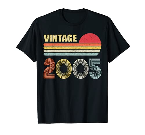 Vintage 2005 Funny 16 Years Old Boys and Girls 16th Birthday T-Sh