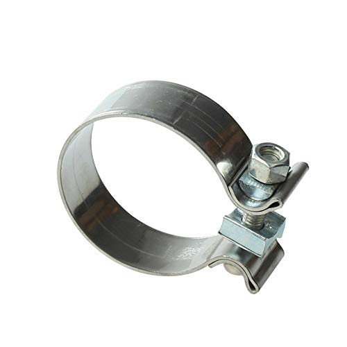 ay-autoparts 2.25' 2 1/4' T430 Bright Stainless Steel Butt Joint Narrow Band Exhaust Seal Clamp for Catback Exhausts Mufflers Downpipes Headers Manifolds Pipes Connect
