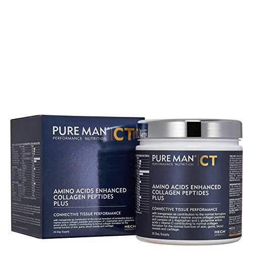 HECH Pure Man Amino Acids Enhanced Collagen Peptides Plus - Connective Tissue Performance, 300 g