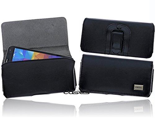Exkluisve Gürteltasche Swivel Holster für das Samsung Galaxy S6 / S7 Schutzhülle Quertasche Seitentasche mit Gürtelschlaufe und Clip - Magnetverschluss - hochwertige Qualität in schwarz/ black