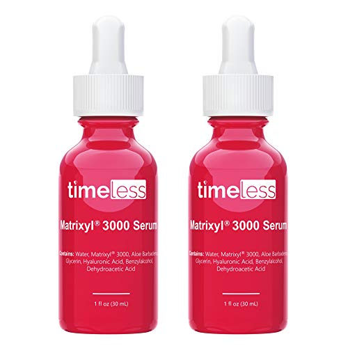 Timeless Skin Care Matrixyl 3000 Serum - 1 oz, 2 Pack - Prevent Visible Aging, Repair Damage, Improve Skin Firmness, Elasticity & Hydration - With Hyaluronic Acid - For All Skin Types, Sensitive Skin
