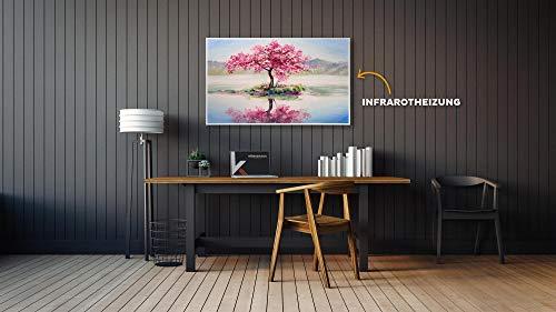 Könighaus Fern Infrarotheizung – Bildheizung in HD Qualität mit TÜV/GS – 200 Bilder – 800 Watt (200. Ölgemälde Baum Wasser) kaufen  Bild 1*