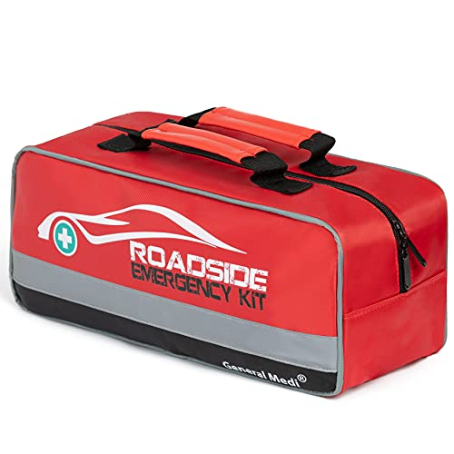 General Medi 127-Pieces Roadside Car Emergency Kit Include Mini First Aid...