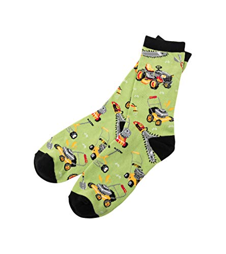 Little Blue House by Hatley Men's Crew Socks, Lawn Care, One Size Fits Most