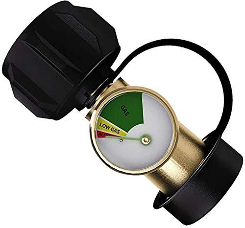 About1988 Propantankanzeige Füllstandsanzeige Lecksucher Gasdruckmesser Universal, Manometer Druck Minderer, Messingadapter BBQ Gasdruckmessgerät Universal für BBQ Gasgrill (Mehrfarbig)