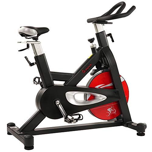 Sunny Health & Fitness SF-B1714 Evolution Pro Magnetic Belt Drive Indoor Cycling Bike, High Weight Capacity, Heavy Duty Flywheel