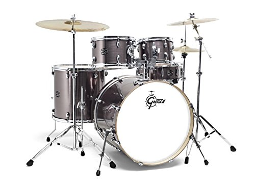 "Gretsch Energy 22"" Drum Kit Steel Grey with Hardware & Paiste 101 Cymbal Set"
