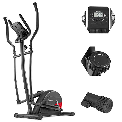 Hop-Sport Crosstrainer HS-003C Ergometer Ellipsentrainer Nordic Walking Stepper Ideal für Zuhause bis 120 kg (Rot)