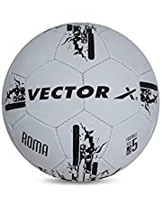 Vector X Roma Hand Stitched Football, Size 5 - White and Black