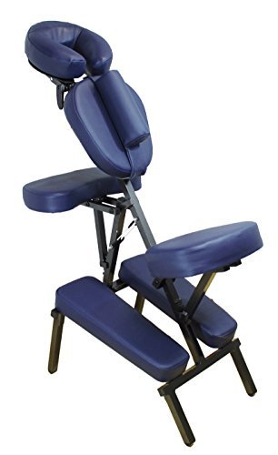 Physique Portable Folding Adjustable Massage Chair with Carry Bag - Blue