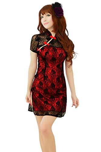 Adelina dames negligee klassieke uniformen printer Cheongsam verleiding pyjama's kant onder modieuze completiel warm nachthemd