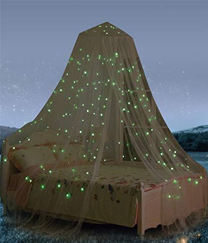 baldacchino per letto con stelle fluorescenti, fantastica idea regalo per neonati, bambini, ragazzi, ragazze. Baldacchino motivo cielo stellato, per c