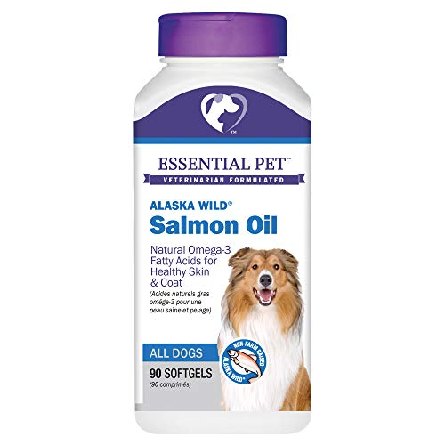 Essential Pet Products Alaska Wild Salmon Oil Soft Gels 1000mg with Natural Omega-3 Fatty Acids for Dogs