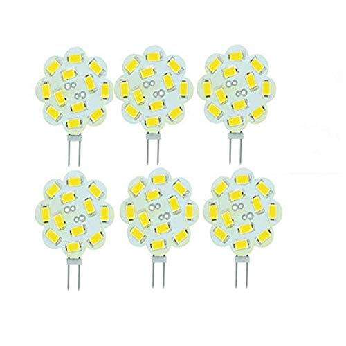 Best to Buy (6-Pack) Dimmable 3Watt T4 G4 DISC LED 12SMD 5730LED, White,5000K,(Jc10 Bi-pin 18-22W Replacement) for RV Campers, Trailers, Boats, and Under-Cabinet Light