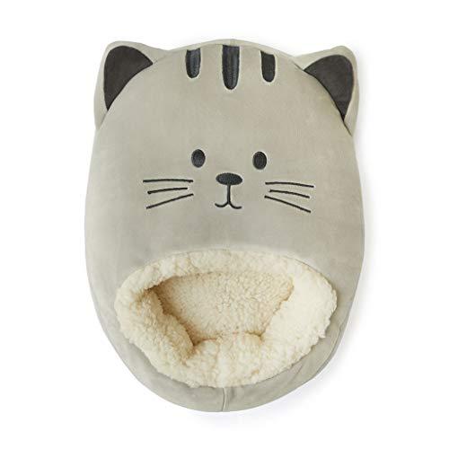 Balvi Calienta pies Kitty Color Gris Mantén Calientes Tus pies Bolsa Suave y cómoda con diseño Divertido y Original en Forma de Gato Poliéster