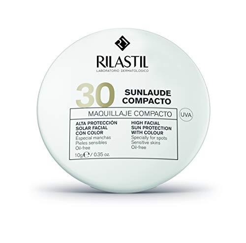 Rilastil Sunlaude - Maquillaje Compacto Matificante - SPF30+, 10 g