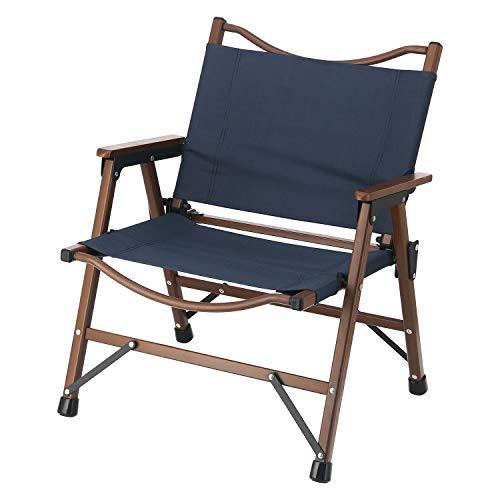 不二貿易 折りたたみ椅子 アウトドアチェア ローチェア 軽量 ネイビー 水洗い可能 耐荷重80kg シュミット 37981