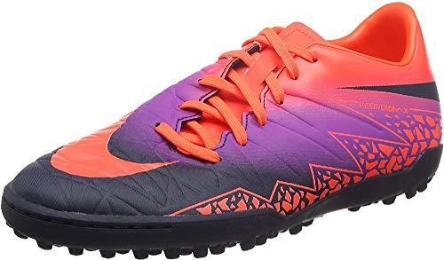 Nike Hypervenom Phelon II Tf, Scarpe da Calcio Uomo, Multicolore (Total Crimson/Obsidian-Vivid Purple), 44.5 EU
