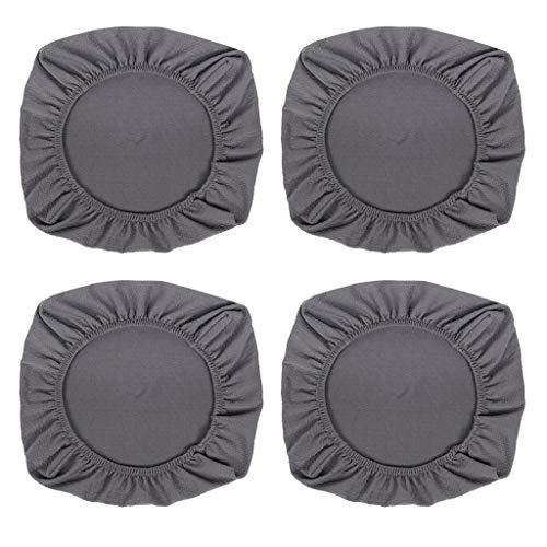 joyMerit 4pcs Stretchable Dining Chair Cover Für Hochzeitsfeier Waschbar - Grey_L