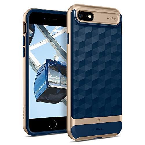 caseology iphone 6 plus Caseology Parallax for Apple iPhone SE 2020 Case 4.7 inch for iPhone 8 (2017) for iPhone 7 (2016) - Navy Blue