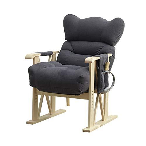 LINGZE Amortiguadores de la Tumbona, sofá del algodón del reclinable de la Tumbona del jardín Ajustable