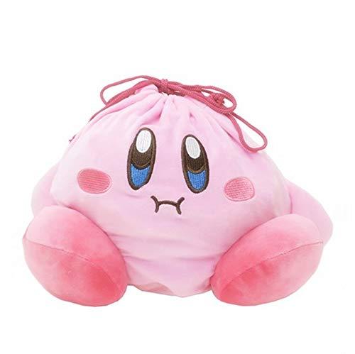 Sklepee Bolsas de regalo para fiestas infantiles, linda bolsa de peluche con cordón de peluche, mochila con diseño de animales de dibujos animados, monedero rosa para niños y niñas cumpleaños