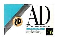 TDK カセットテープ AD 46分 スーパーローノイズ AD-46M