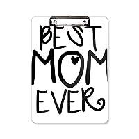 これまでに最高のお母さんの言葉は母の日 フラットヘッドフォルダーライティングパッドテストA4