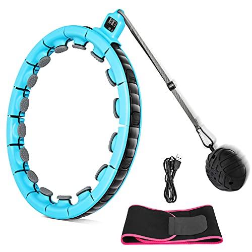 Komake Smart Fitness Reifen,Upgraded Fitness Reifen Ring, Abnehmbare Auto-Spinning 16 Abschnitte, Intelligente Berechnungszeit, Fitness Reifen für Weight Loss Fitness und Massage
