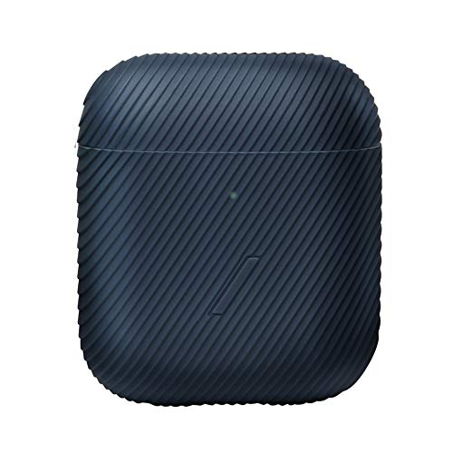 Funda Curva NATIVE UNION para AirPods - Elegante Funda con Textura de Silicona, Compatible con AirPods de Gen. 1 y Gen. 2 (Navy)