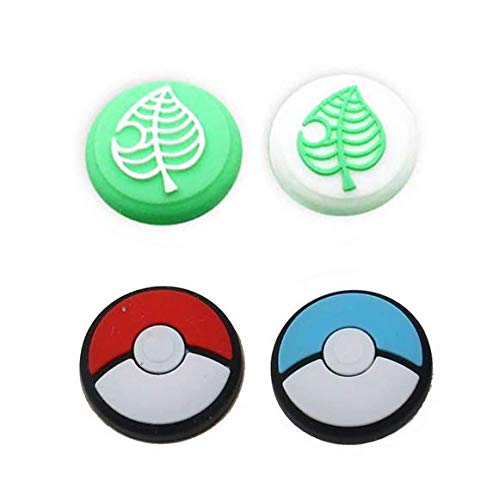 Thumb Stick Grips Cap Thumbstick Joystick Cover Case für Nintendo Switch NS Pokemon Poke Ball Plus Pokeball Game Controller (B)