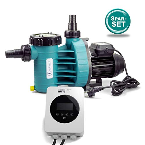 POOL Total Aqua Plus Filterpumpe inkl. EnergySaver mit Zeitschaltuhr 4,0m³ bis 20m³ Wasserinhalt