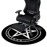 Darkecho Alfombrilla para Silla de Gaming Oficina Protector de Suelo Diámetro 100cm Redondo 5mm Grueso(Negro)