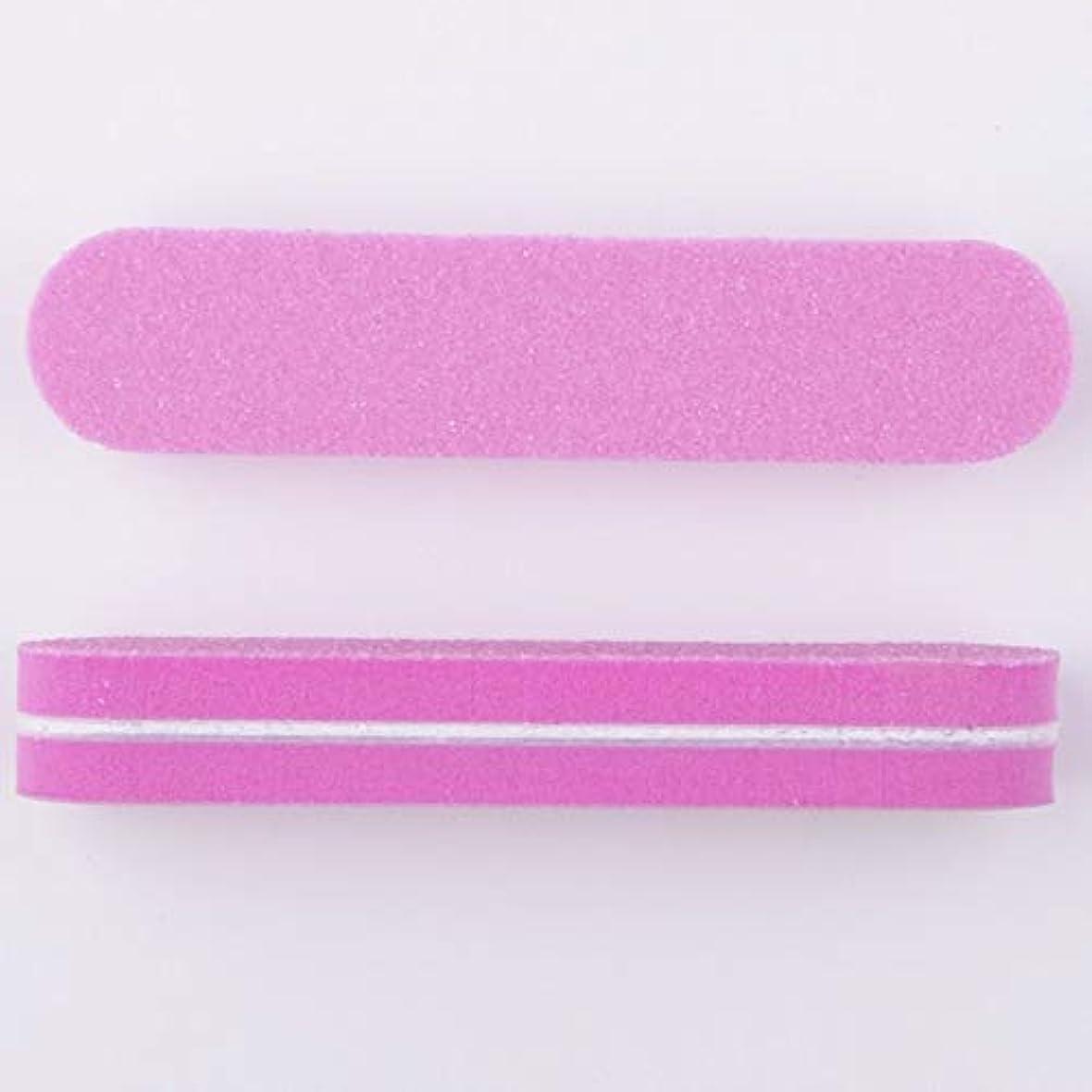 ネイルファイル スポンジ製 両面研磨 9 * 2 * 0.12CM 40本(ピンク)