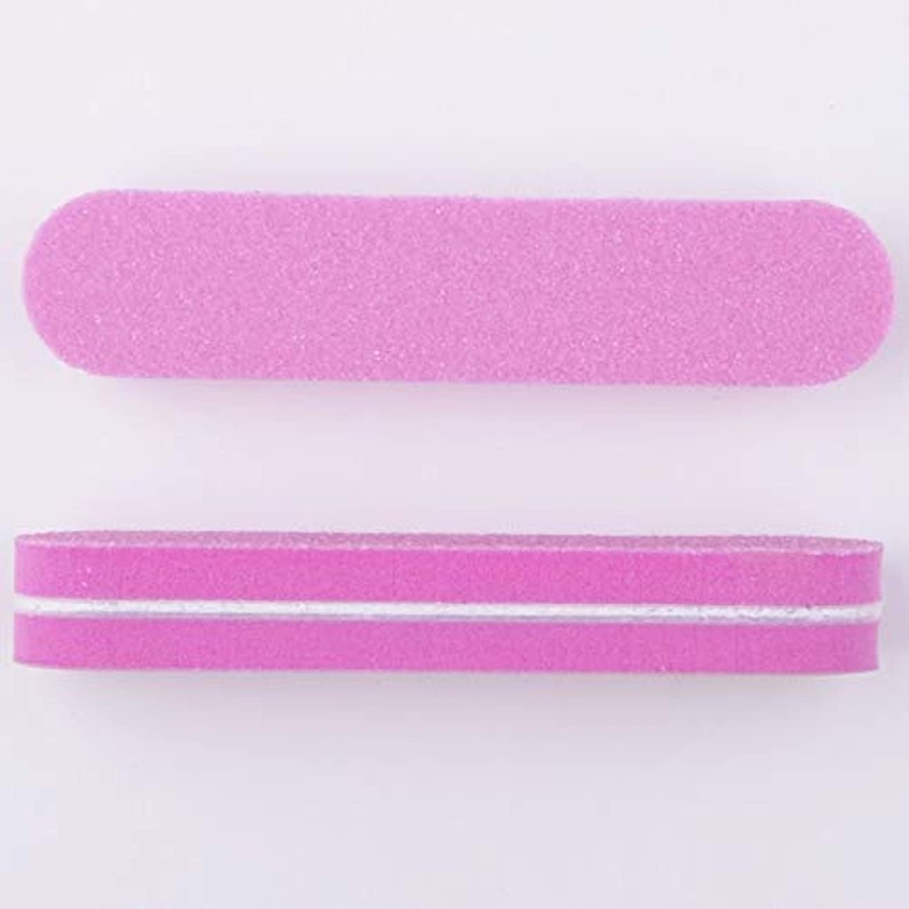 粘液公園生き物ネイルファイル スポンジ製 両面研磨 9 * 2 * 0.12CM 40本(ピンク)